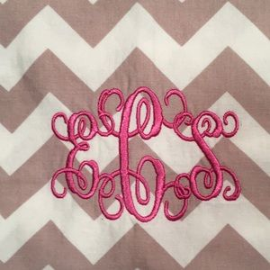 Accessories - Chevron infinity scarf with monogram ECS